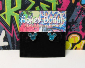 Mickey Mouse March Birthstone Stud Earrings