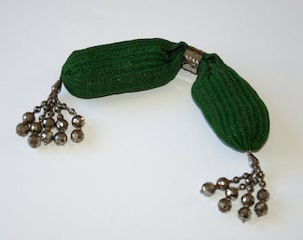 Victorian beaded miser purse with slider c1860s