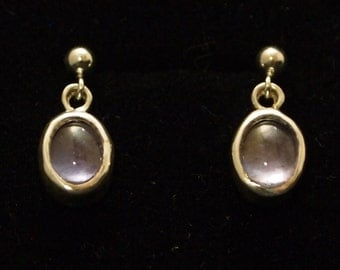 Sterling Silver and Iolite Drop Earrings