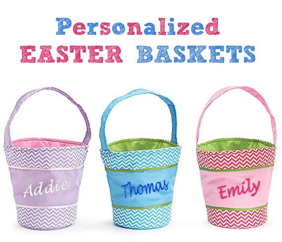 Monogram Easter Basket Personalized Easter Baskets Chevron