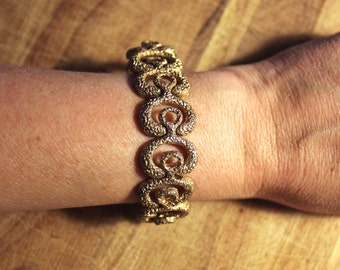 vintage. 60s Mid Century Organic Shapes Link Bracelet  //