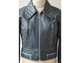 1960s 1970s Mod Pleather Jacket