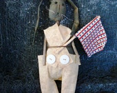 Americana Rabbit, a Primitive Folk Art
