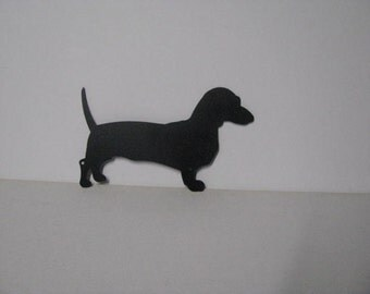 Dachshunds Large Address Sign Metal Wall Yard Art Silhouette