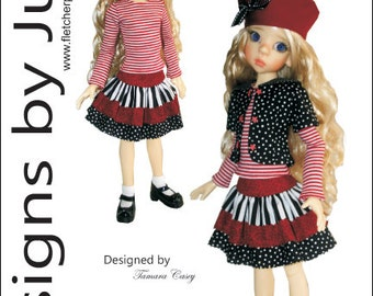 PDF Clever Girl Pattern for 46cm MSD Kaye Wiggs Dolls