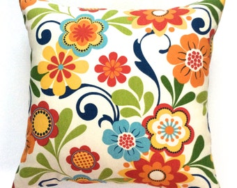 "Pillow covers decorative designer 18""x18"" handmade accent pillow covers floral toss pillows throw pillows cushions"