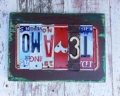 10th Wedding Anniversary Tin Aluminum Gift - 10 year LOVE TE AMO gift for men man husband - License Plate Sign Name personalized Valentine's