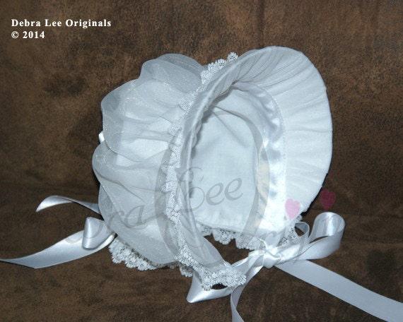 Christening Bonnet Bonnie Bonnet Blessing Bonnet