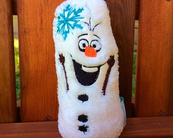 Baby Rattle Toy Snowman Olaf inspired Cute Toymaker Babyshower Expecting Parents Baby Birthday Gift Cute Plush Snowman
