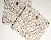 SALE - Handmade Crochet Boot Cuffs, Boot Socks, Leg Warmers, Oatmeal Women's Boot Cuffs