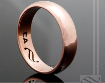 6mm Classic Copper Wedding Band