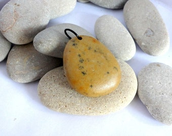 Focal bead. Top drilled Spanish stones DIY Pendants Earrings supplies Spanish rocks Unique and natural Eva