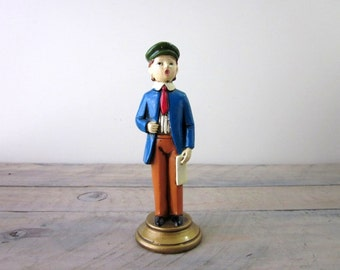 Vintage Painted Boy Figurine