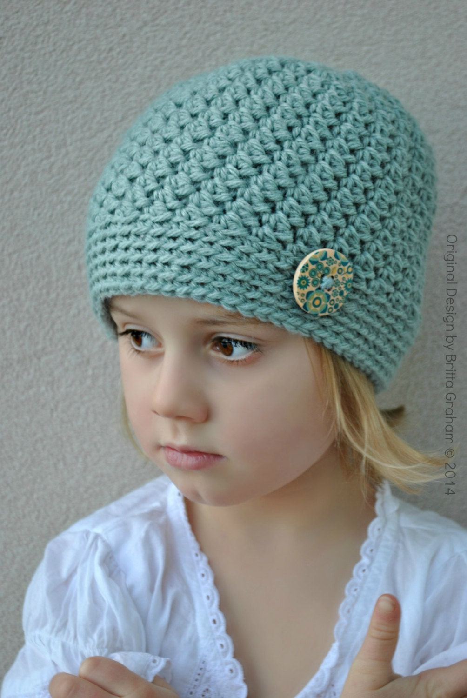 Crochet Hat Pattern Teenager : Girls Crochet Hat Pattern in Toddler Kids Teen and Ladies