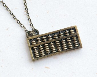Maths Lover - Abacus Necklace with movable beads (N364)