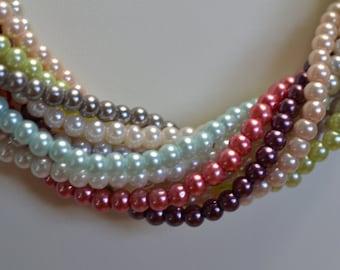 33 Inch Multi-strand Pearl Necklace