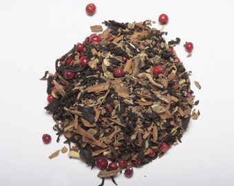 THUNDERSTORM TEA (Organic smoked tea blend with cinnamon, Licorice, peppercorns and figs)