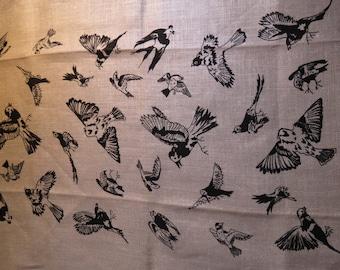 Vintage Linen Bar Towel Birds Theme 28 x 17.5 New With Label