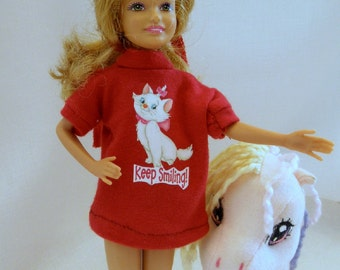 T Shirt mini dress cat for Blythe Stacie Licca Moxie Bratz