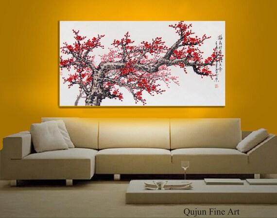 Original Art work chinese painting -Lovely cherry blossom tree No.6