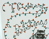 Raccoon Christmas  Boxed Set Holiday Letterpress - Christmas Bandit
