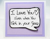 Boyfriend Valentine Card. Funny Couples Card for Him. Fart Card. Funny Valentines day Cards for Husbands. MN232