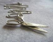 Sterling Silver Scissors Necklace. Modern Pendant. Hairdresser or Fashion Designer Jewelry