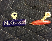 McGovern and Red Feather lapel pins