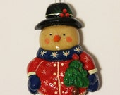CUSTOM LISTING for Trish Christmas Ornament Salt Dough Snowman and Bear in a Stocking