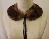 Vintage Mink Fur Collar With Tassel Detail