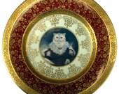 "Queen Nadira of Persia - Altered Antique Plate 10.75"""