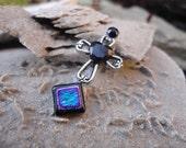 Twilight Cross Bindi, re-useable festival/ bellydance body jewellery, tikka.