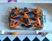 Miniature Food Halloween Witch Hat  Cookies 1/12 Scale