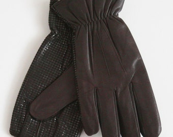 Soft Genuine Leather Ladies Driving Gloves, Small