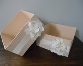 Wedding Program Box, Wedding Card Holder, Wedding Open Box, Favor Box, Program Holder, Custom Made to Order, Champagne Wedding