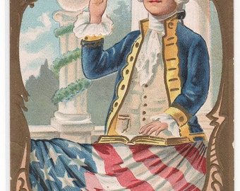 President George Washington Taking the Oath postcard