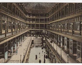 Superior Arcade Shopping Mall Cleveland Ohio postcard