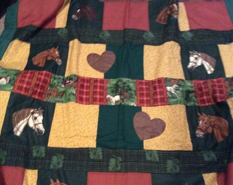 Horse and Hearts Quilt