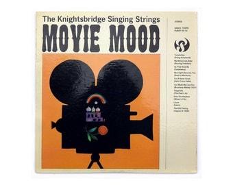 """Milton Glaser record album design, c. 1964. """"Movie Mood"""" LP"""