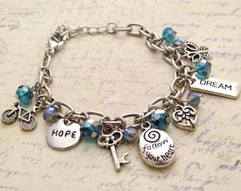 Inspire Me Bracelet. Best Friend Gift, Affirmation Bracelet, Handmade Bracelet, Friendship Bracelet