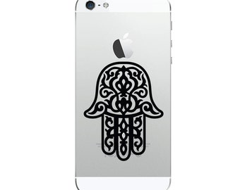 2Pcs  Chamsa Blessing Hand _Apple iPhone Decal iPhone 4s Sticker,iPhone 5 Cover Decal Sticker Skin
