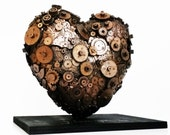 steampunk love heart sculpture