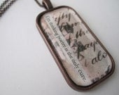 Poetry is the Only Cure - Collage & Poetry Pendant
