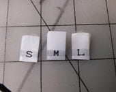 Size Labels Woven Garment Labels Small Lot