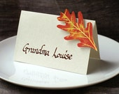 Autumn Leaf - Place Card - Thanksgiving - Gift Card - Table Number Card - Menu Card -weddings events