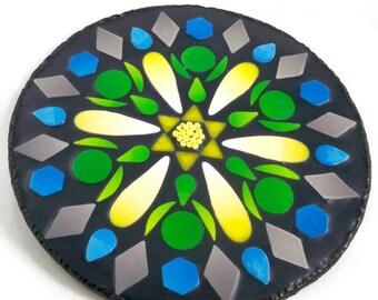 Polymer Clay Mandala Wall Plaque