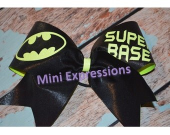 "3""  Super Base Batman  Cheer Bow"