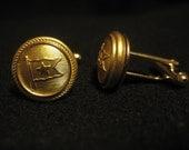 Titanic: Uniform Button Cufflinks - White Star Line - Brass 1912