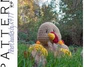 INSTANT DOWNLOAD : Babys First Plushie - Turkey Crochet Pattern