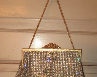 Diamonds Are A Girls Best Friend Wow All Over RHinestone Handbag Germany Stunning